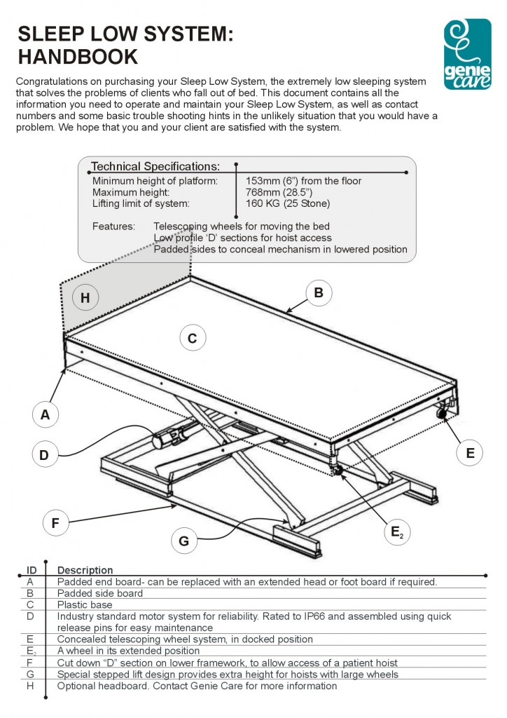 disability bed booklet