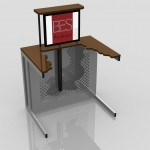 Desk Up Cut-Away: RF3 Design
