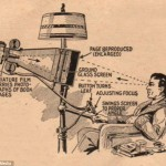 The first Kindle? The amazing mechanical book reader from 1935 (although you wouldn't want to take it on the train)